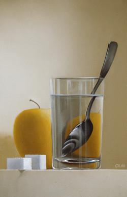 Verre d'eau à la cuillère
