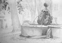 Gilou, Villeneuvette La fontaine