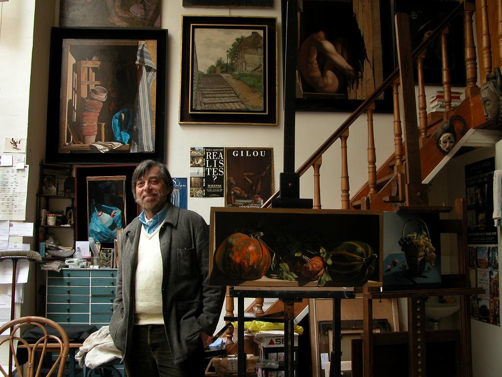 Gilou dans son atelier