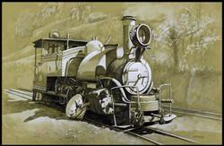 La locomotive à vapeur.