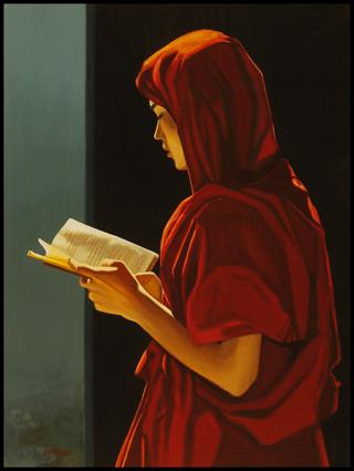Moine lisant, Birmanie. Monk reading