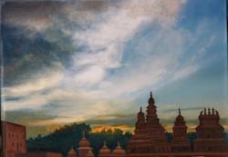 Temples au crépuscule.