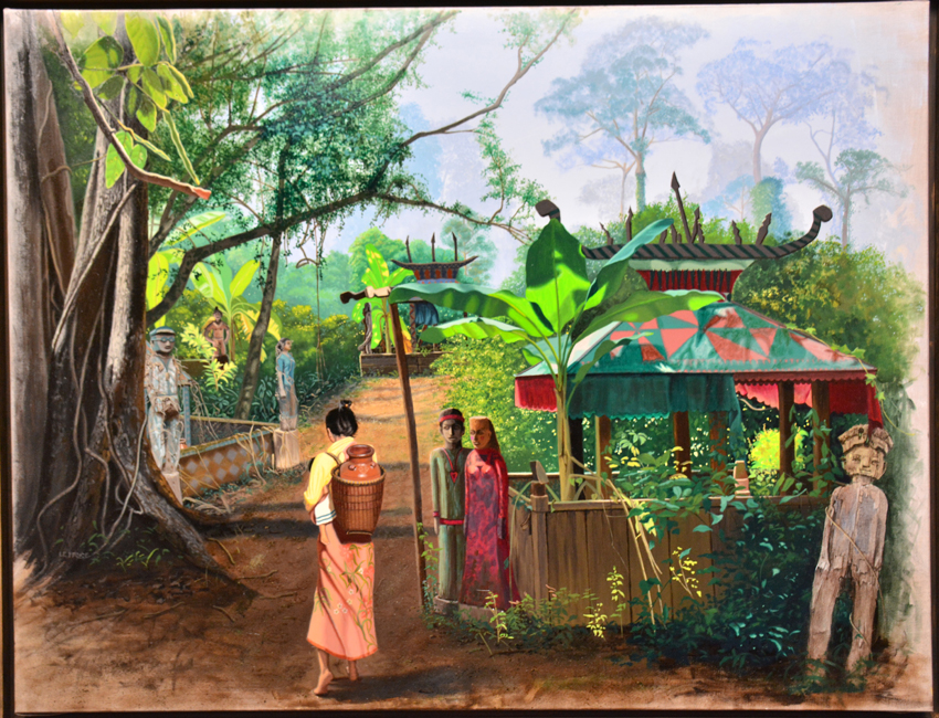 En famille dans la jungle Cambodge
