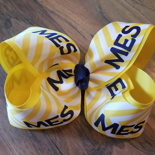 MES Yellow Chevron Bow
