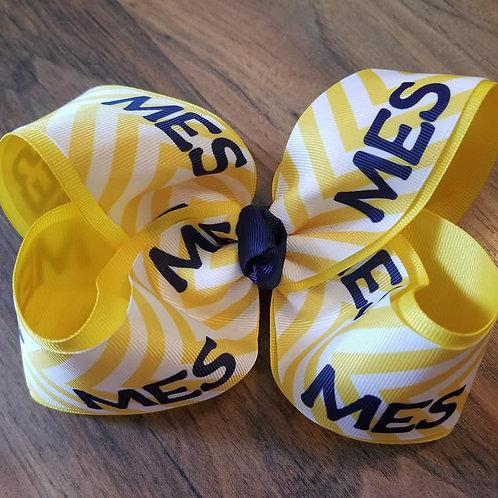 MES Yellow Chevron Bow