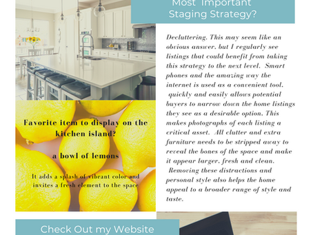 Most Important Staging Strategy? SII Staging Newsletter