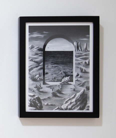Oasis (2020) - print with frame