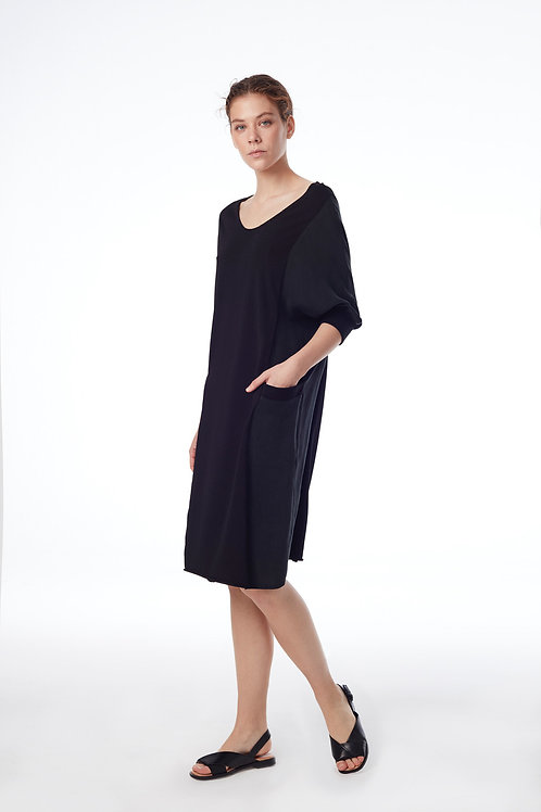 PUFF SLEEVE AIRY DRESS