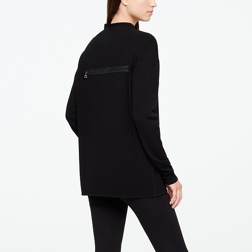 ZIP DETAIL LIGHT SWEATER TUNIC