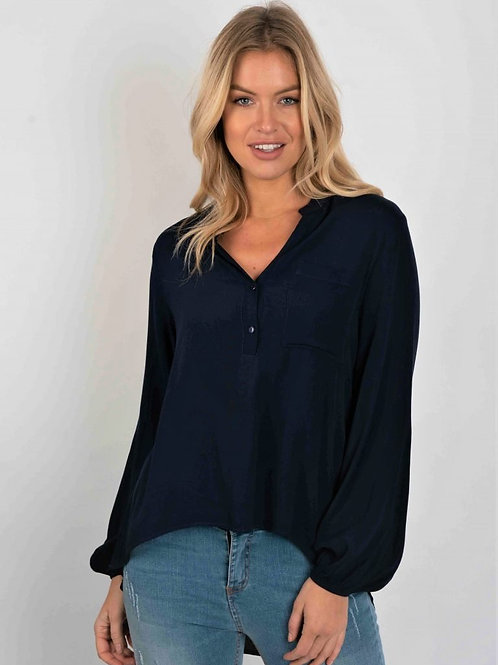 Viscose Blouse With Pocket