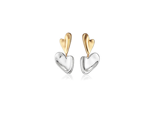 heart drop s/g earring