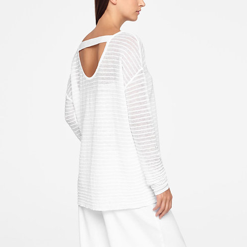 White long linen sweater