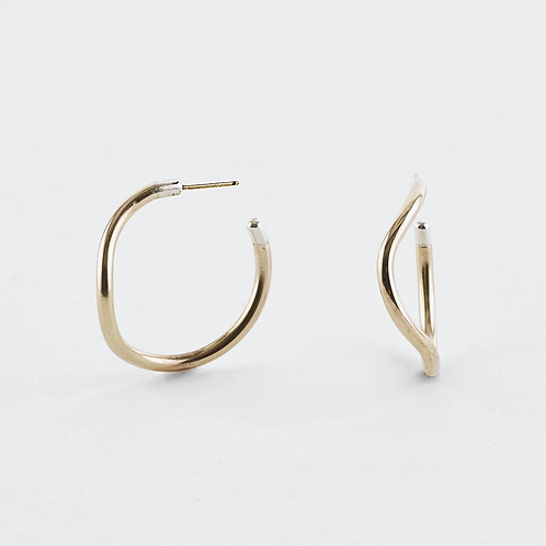 WAVE HOOPS SMALL GOLD