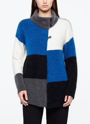 LONG CARDIGAN - COLOR-BLOCK