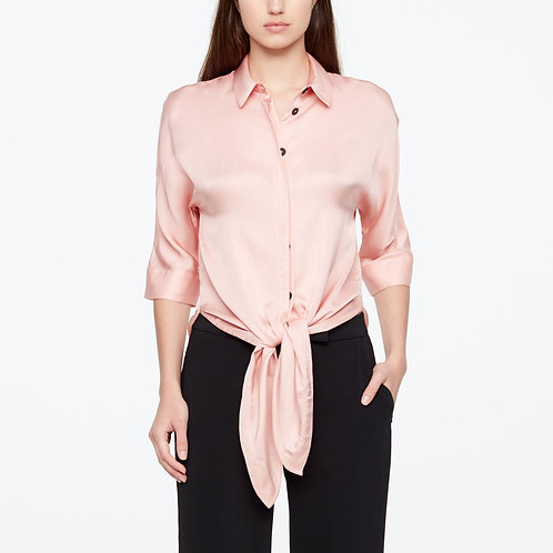 PINK VISCOSE SHORT BOUSE