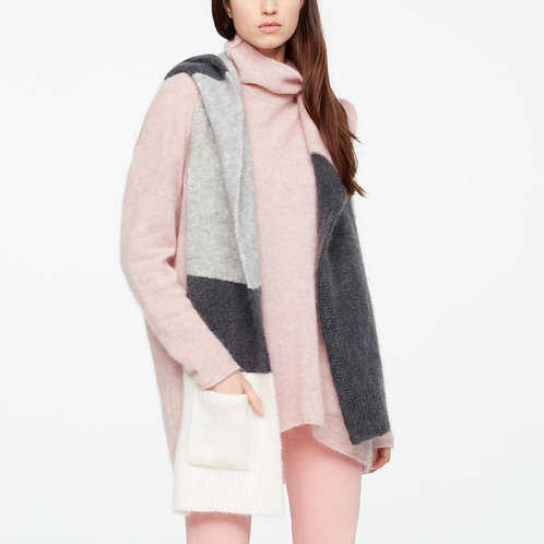 SCARF - COLOR-BLOCK PINK