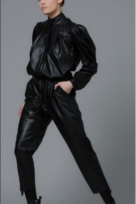 MELT LEATHER TOP