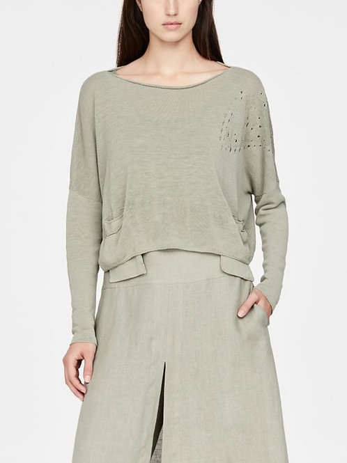 CROPPED LINEN SWEATER