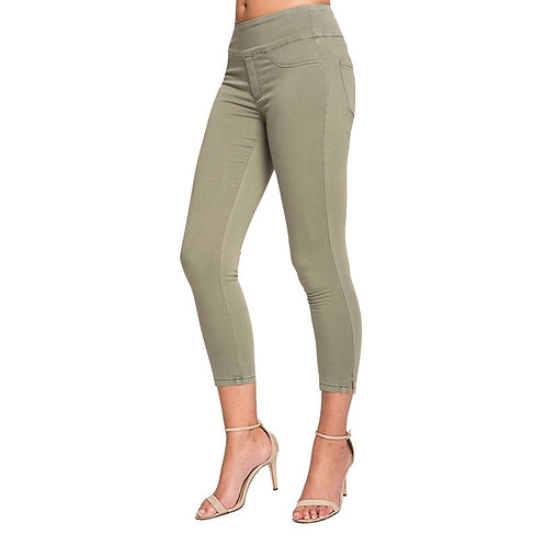 JOY CAPRI LENGTH KHAKI