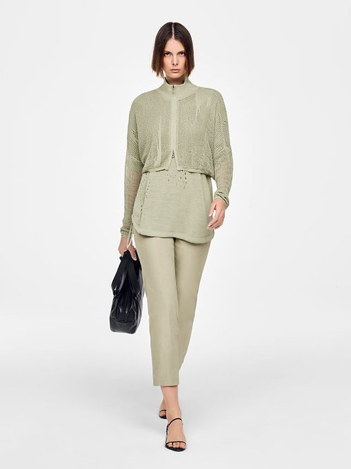LINEN CARDIGAN - PERFORATED