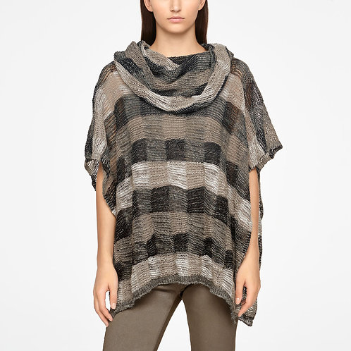 Taupe linen poncho