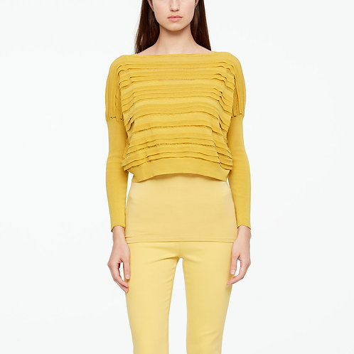 cropped yellow sweater