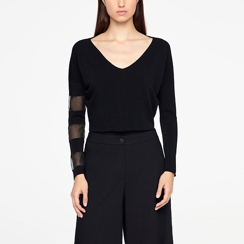 Viscose cropped sweater