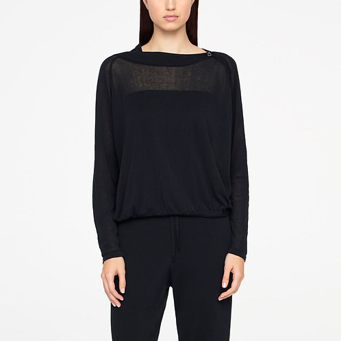 Urban sweater-zipper neckline