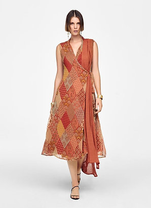 WRAP DRESS - PATCHWORK