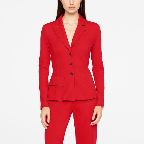 Red modal cotton Jersey Jacket