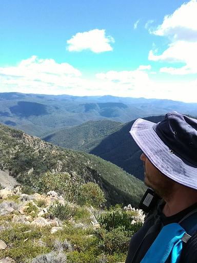 Tidbinbilla Peak looking west