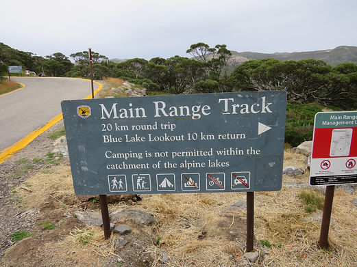 Start of Main Rangte Loop Walk, Kosciuszko National Park