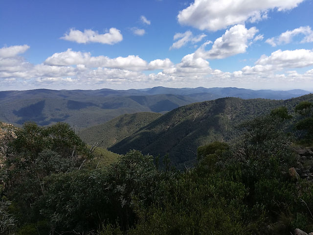 Looking North West from Tidbinbilla Mountain