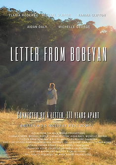 Film poster for the upcoming release of, 'Letter from Bobeyan'. A story from before Canberra.