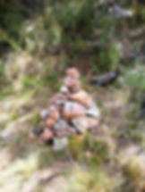 Rock Pile, marking entry to walking track to John's Peak, Tidbinbilla