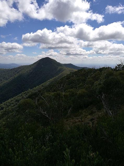 View from Tidbinbilla Peak towards Camels Peak
