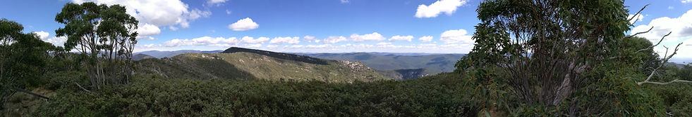 Panoramic view from Mt Tidbinbilla to the west