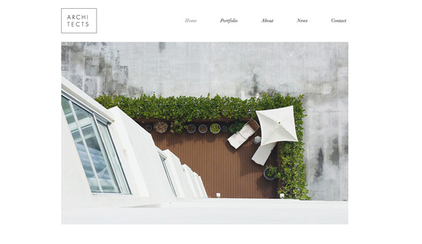 Portfolio website templates – Residential Architects