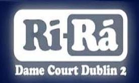 the logo for ri ra niteclub in dublin where steely dave has a residency
