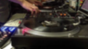 Dj gig with two technics 1200's, a pioneers djm mixer and serato dj software