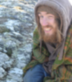 Geofftree examines a rock tree