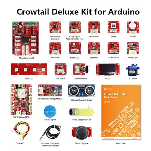Crowtail Deluxe Kit for Arduino With 20 Projects