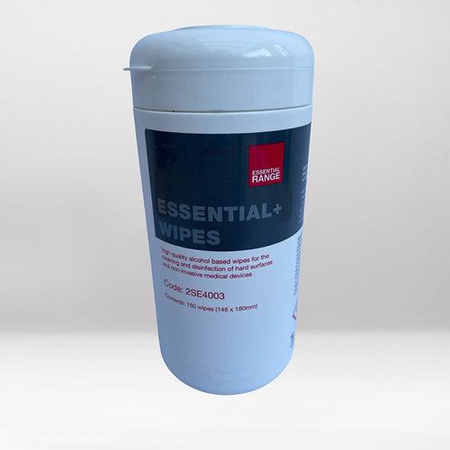 Essential+ Alcohol Wipes - 150 Tub