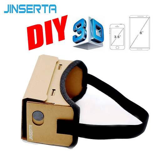 JINSERTA Google Cardboard VR Box DIY 3D Glasses for iPhone Samsung