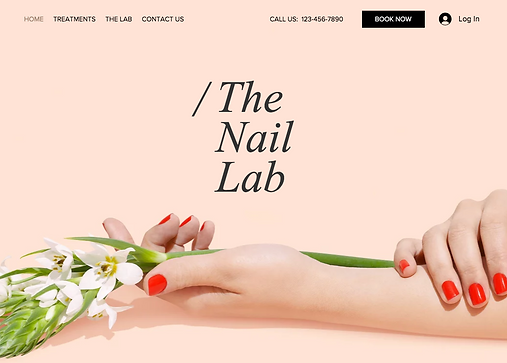 Hair beauty website template