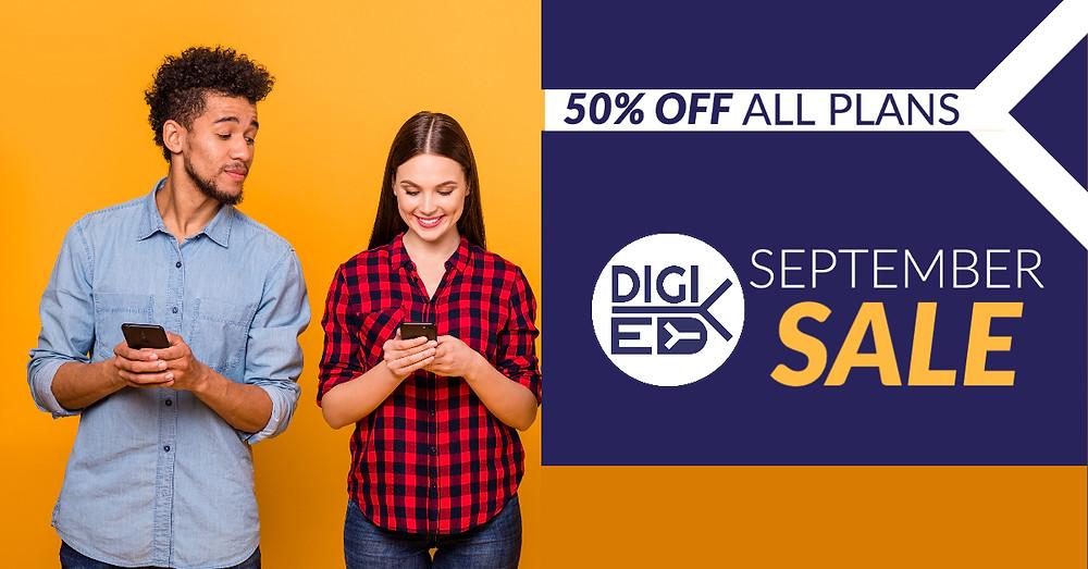 Digi-Ed September Sale 2020 50% Off Plans
