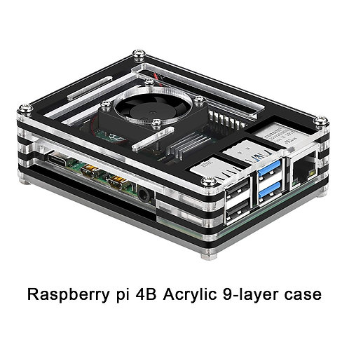 Raspberry Pi 4B Case New 9 Layers Case Designed for Raspberry Pi 4 Model B