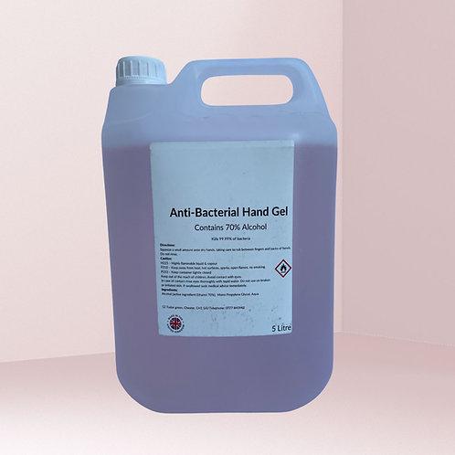 Anti-Bacterial Hand Gel 70% - 5L