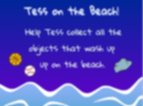 tess on the beach game splash page