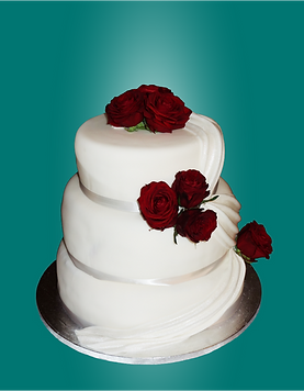 Moderne Hochzeitstorte